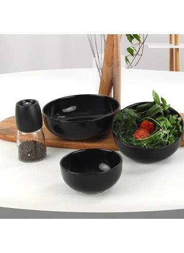 Keramika Keramika Siyah Nordic/Kera/Bulut Salata/Çerez Seti 3 Parça Renkli
